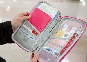 Travel document wallet or holder