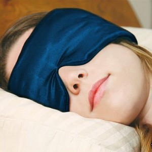 Sleeping with an eye mask