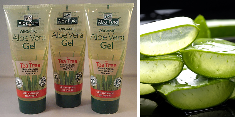 Aloe Pura Organic Aloe Vera Gel with Tea Tree Oil