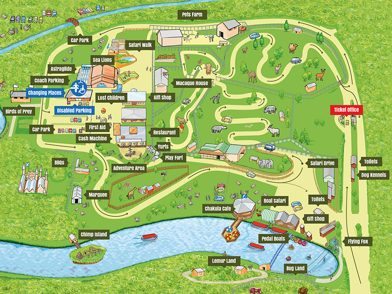 Blair Drummond Safari and Adventure Park Map