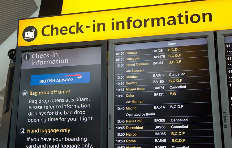 check in time for international flights