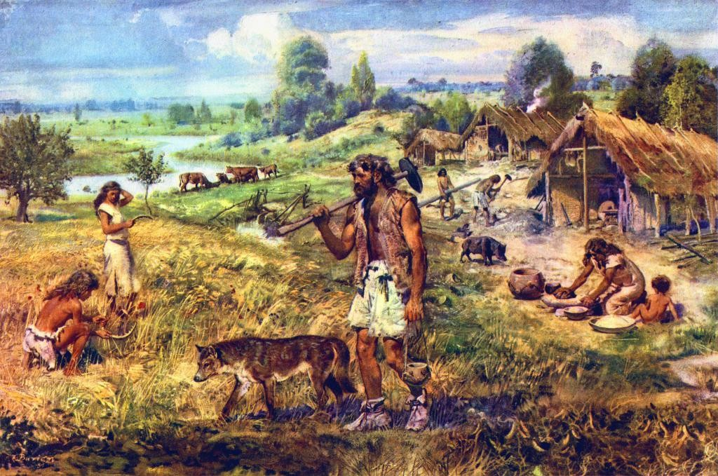 Depiction of Neolithic People