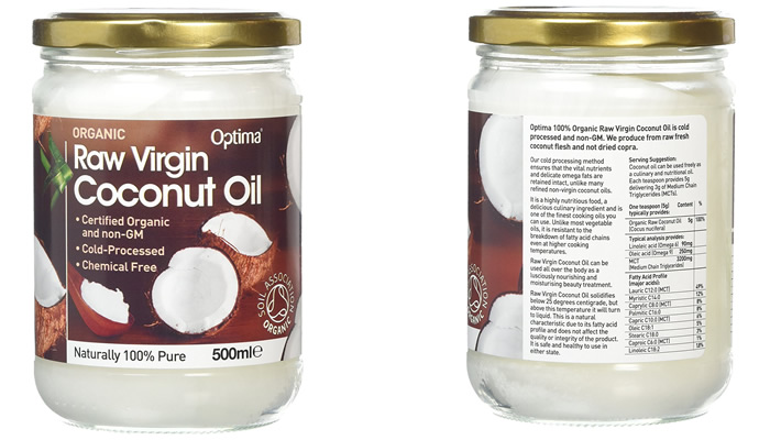 Optima Organic Raw Virgin Coconut Oil
