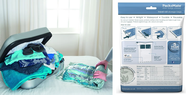 Packmate Travel Roll Vacuum Storage Bags Review