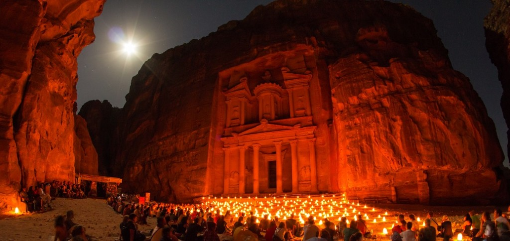 Visiting Petra, Jordan at Night