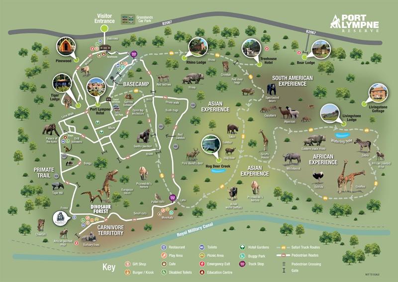 Port Lympne Wild Animal Park Map