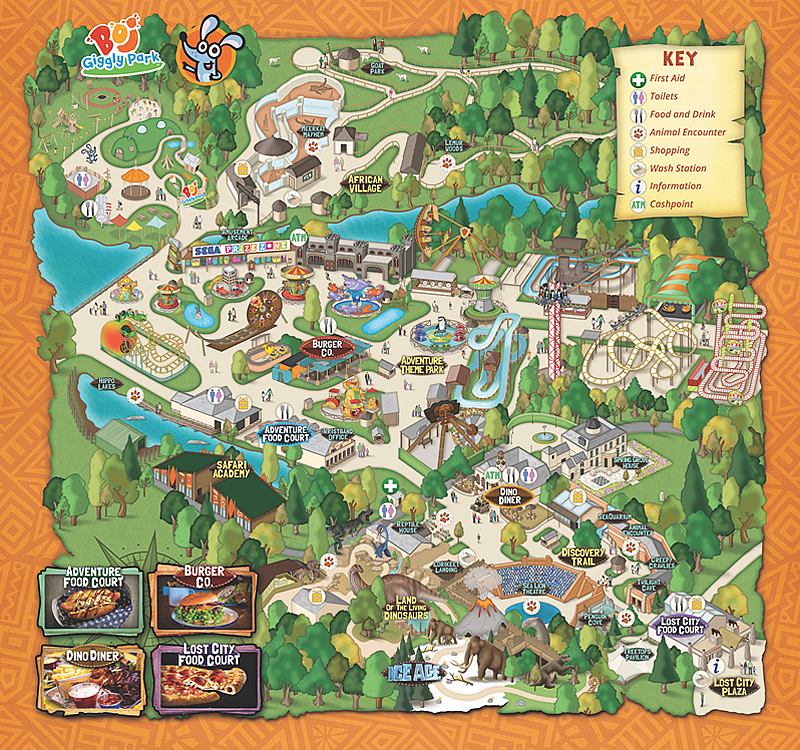 West Midland Safari Park Map