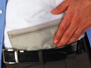 Hidden travel pouch