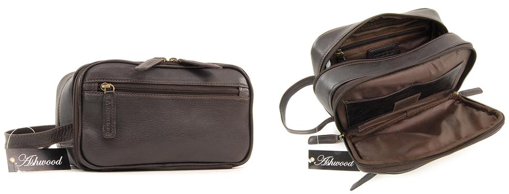 Ashwood Chelsea Leather Wash Bag