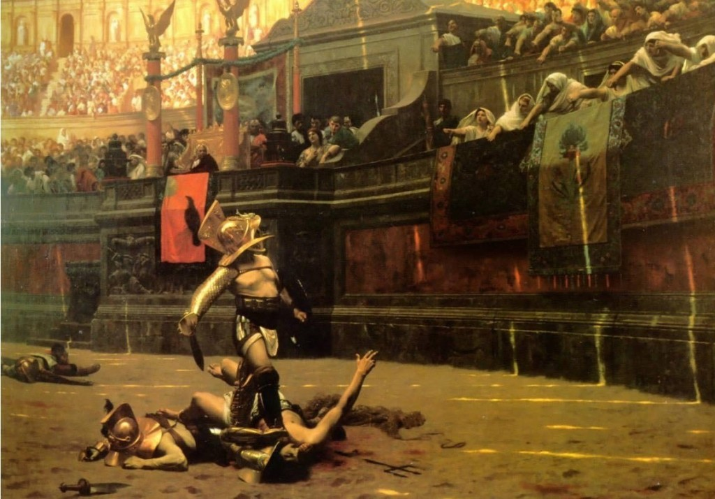 Roman Gladiator of The Colosseum, Rome, Italy