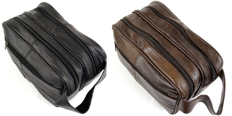 Lorenz Men's Leather Wash Bag