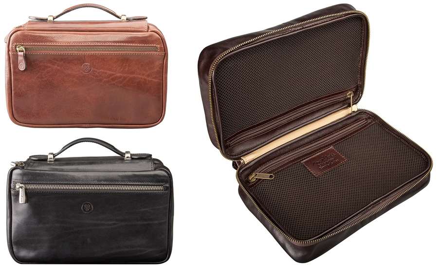 Maxwell Scott The Cascina Ladie's Leather Wash Bag