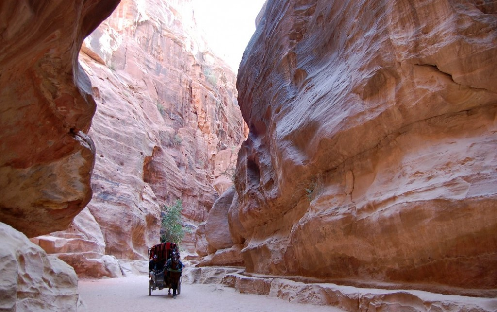Al Siq Pathway of Petra, Jordan
