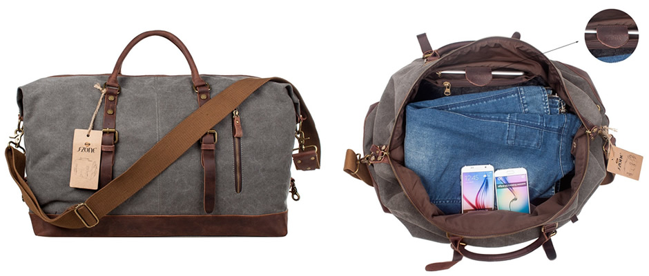 S-Zone Canvas Weekend Holdall Bag
