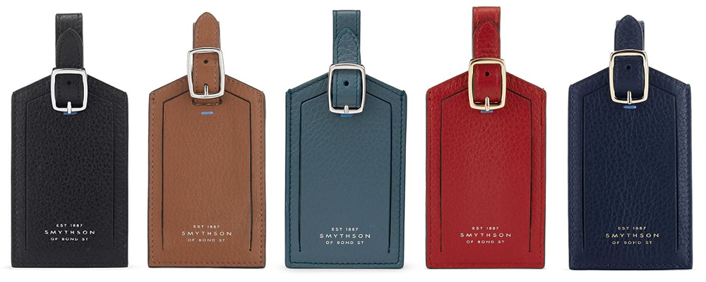 Smythson Burlington Luggage Tag
