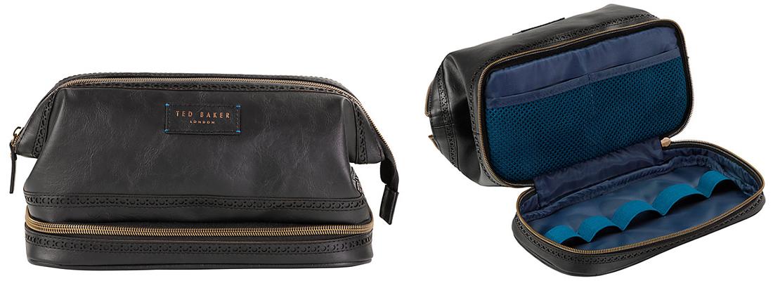 Ted Baker Cobbler Leather Wash Bag