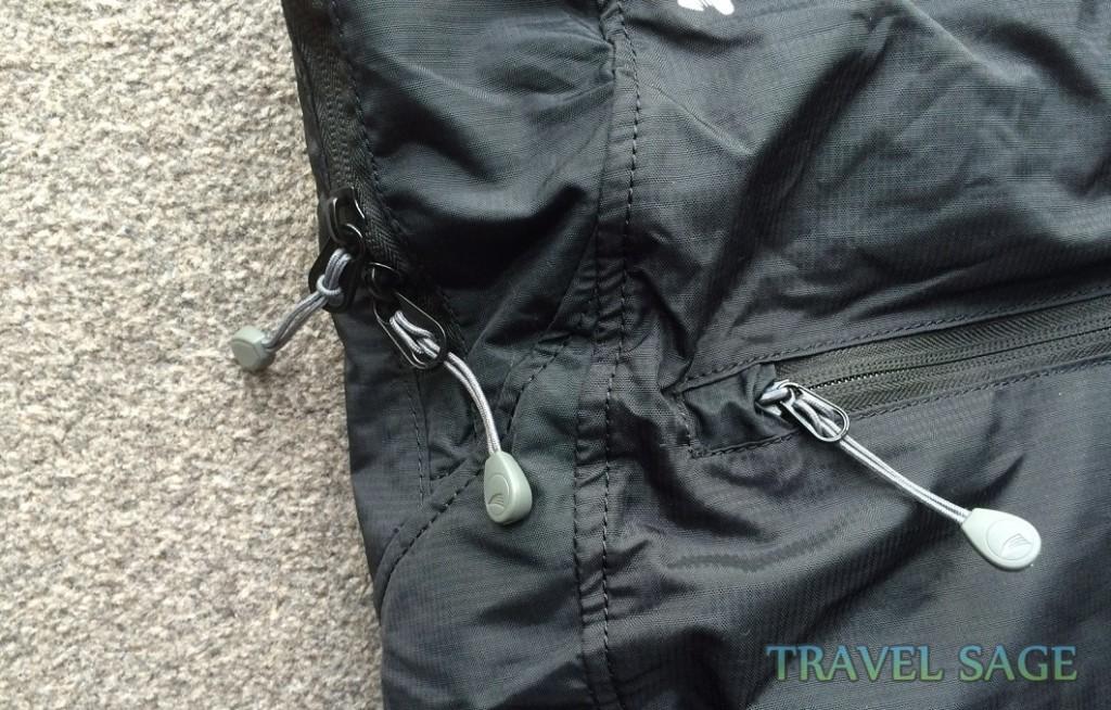 Vango Pac 15 Folding Rucksack Zippers